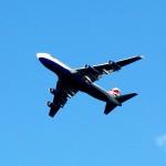 BA Jumbo flying low over Windsor