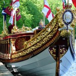 MC800 Gloriana waits for Her Majesty the Queen. Photo courtesy of Thames Alive square