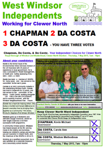 Clewer North Leaflet May 2015 Front
